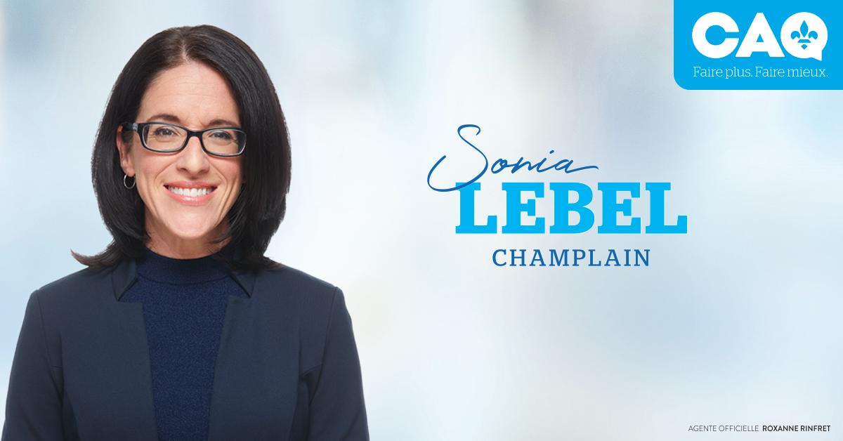 Sonia LeBel - Champlain - Coalition Avenir Québec